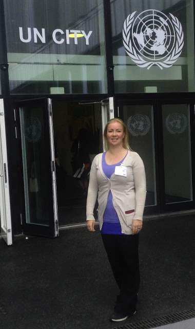 Abbie at UN
